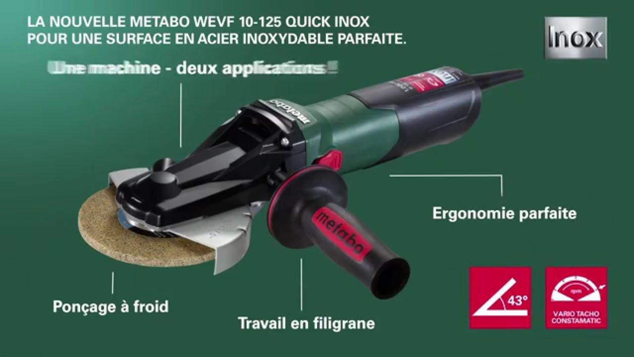 Metabo 600572420 5 pouces 13.5-Amp VTC Meuleuse d/'angle avec Serrure-ON interrupteur à glissière