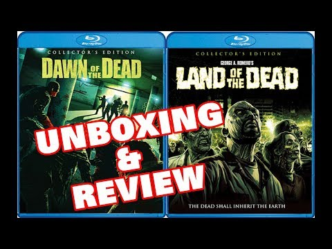 DAWN OF THE DEAD /LAND OF THE DEAD -BLURAY REVIEW & UNBOXING (SCREAM FACTORY)