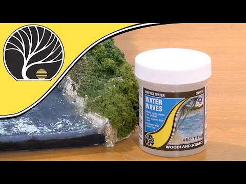 How To  Create Motion With Water Waves | Woodland Scenics | Model Scenery