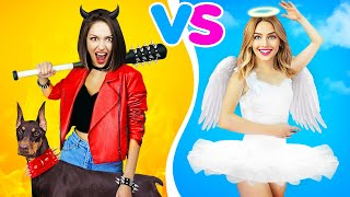 GOOD GIRL VS BAD GIRL CHALLENGE! Funny Awkward Moments and Pranks with Girls by RATATA!
