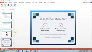 Adding Poll Everywhere question to PowerPoint