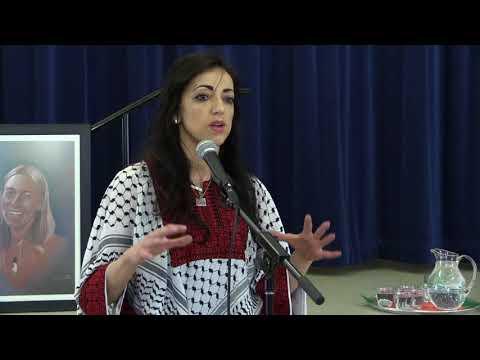 Huwaida Arraf  Speaks about Rachel Corrie & Palestine