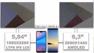 Huawei P20 Lite Vs Samsung Galaxy Note 8 display quality