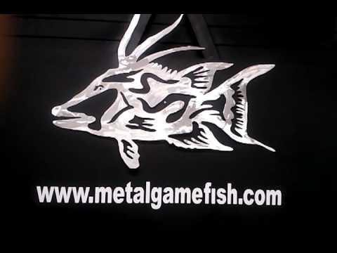 metal fish art hog fish gamefish sculpture