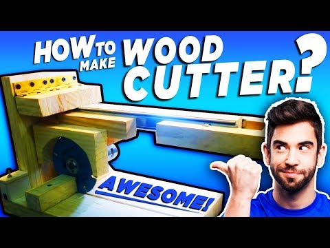How to Make a Wood Cutter at Home | Wood Cutting Machine at Home | homemade wood cutter