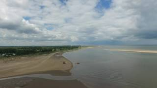 RNLI Cleethorpes rescue Humberston, drone footage.
