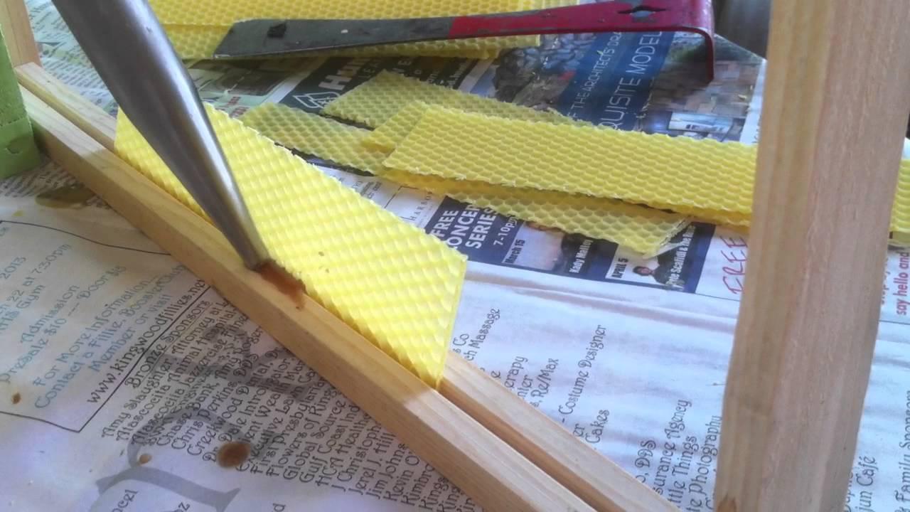Putting Foundation Starter Strips in Frames