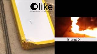 Olike Powerbank  drop and explosion test