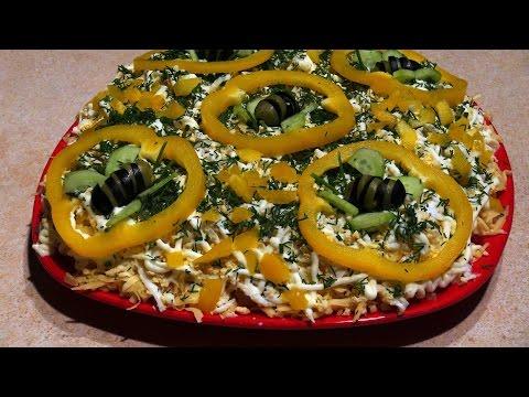 салат сыр ветчина салат рецепт классический