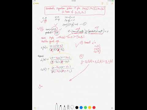 Quadratic Equation Given 3 Pts X0 Y0 X1 Y1 X2 Y2 Via Lagrange Youtube This means that the value of x is dependent on the condition (the one before the question mark x < 0), the value of x is the first (the value before the : youtube