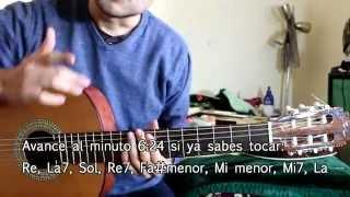 Las Llaves de Mi Alma - Vicente Fernandez - Tutorial - Como tocar en Guitarra