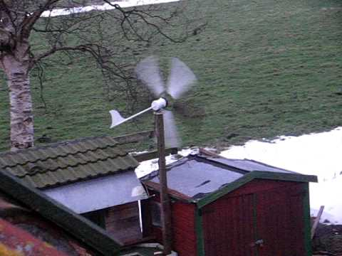eigenbau windrad mit nabendynamo und rohrfluegel homemade wind turbine with shimano hub dynamo. Black Bedroom Furniture Sets. Home Design Ideas