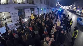 Protest przeciw myśliwym pod siedzibą PZŁ, 2018.01.05
