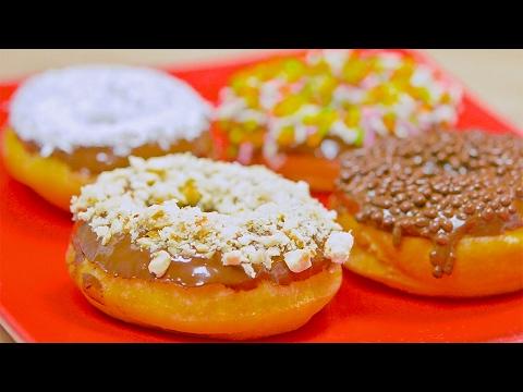 Bunte Donuts selber machen