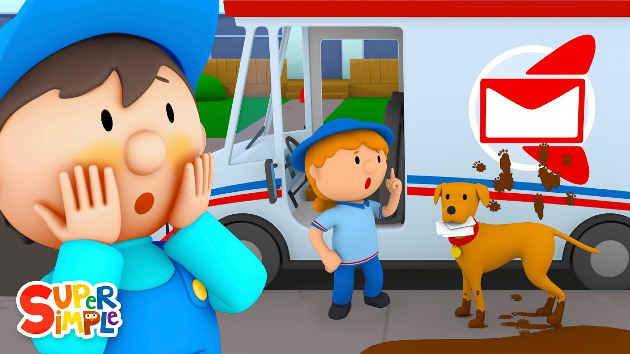 Amelias Mail Truck Is Super Muddy | Carls Car Wash | Cartoons For Kids