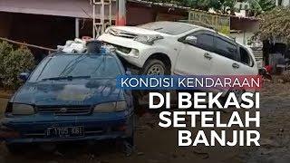 Video Penampakan Mobil-mobil Bertumpuk, Terbalik Tak Karuan setelah Banjir Surut