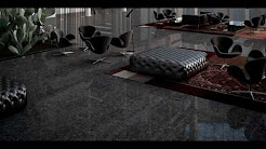 Black porcelain floor tile