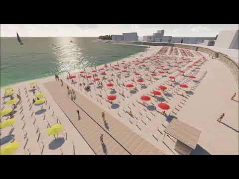 Dos ingenieros segovianos distribuyen los espacios en las playas para mantener las distancias