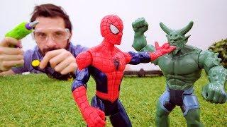 Человек Паук и крылья. Видео для мальчиков про супергероев.
