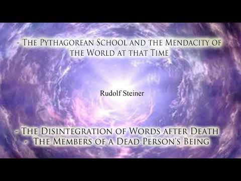The Pythagorean School and the Mendacity of the World at that Time By Rudolf Steiner