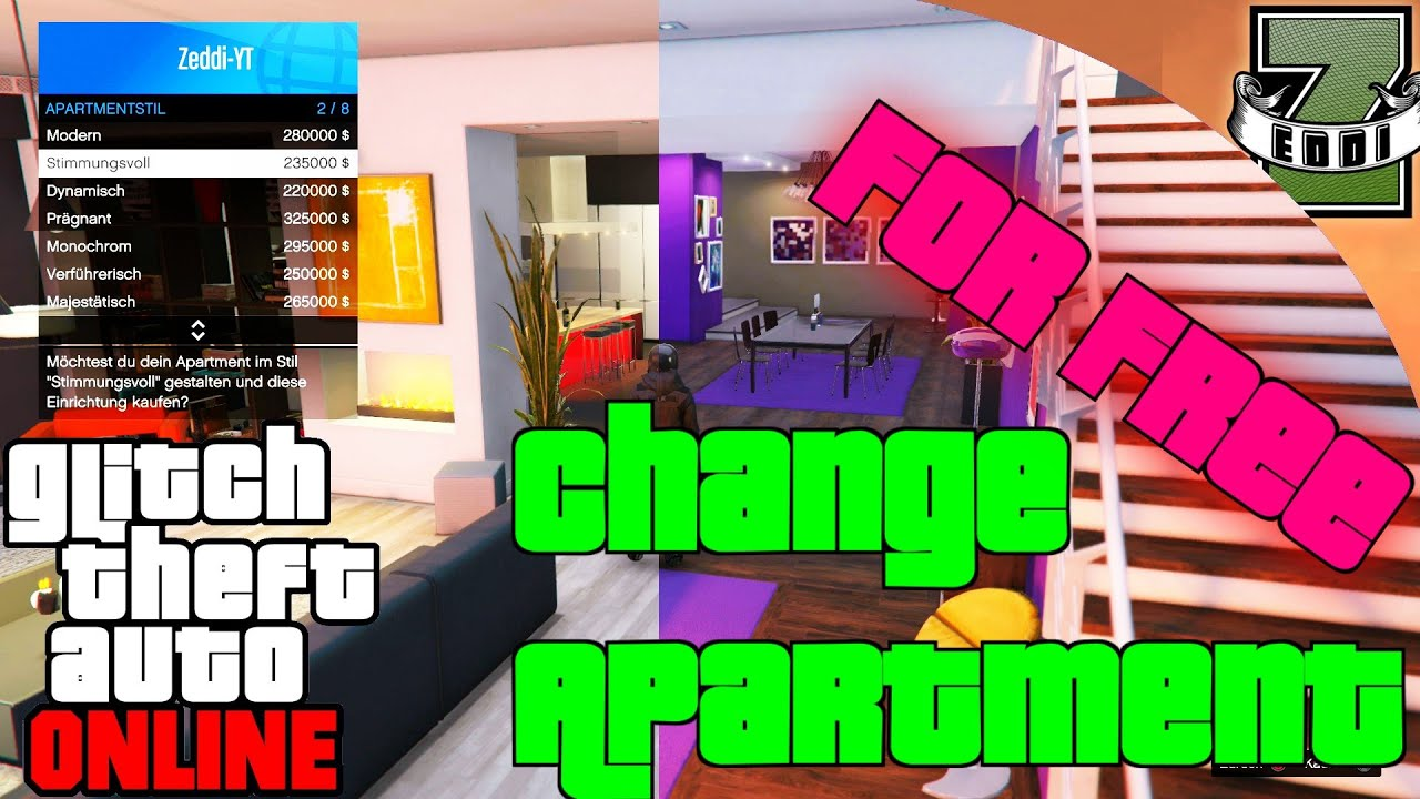 Gta 5 Apartment Glitch Change Interior For Free By Herz Movie You
