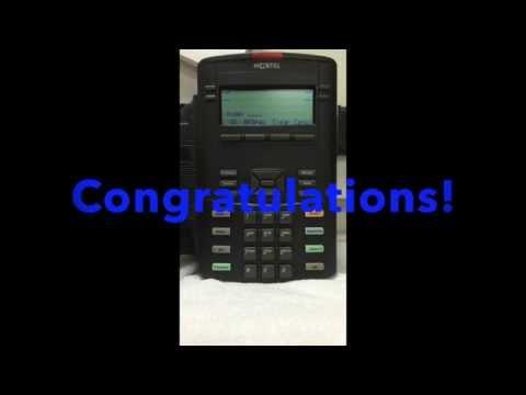 How to Factory Reset Nortel - Avaya 1220 Telephone