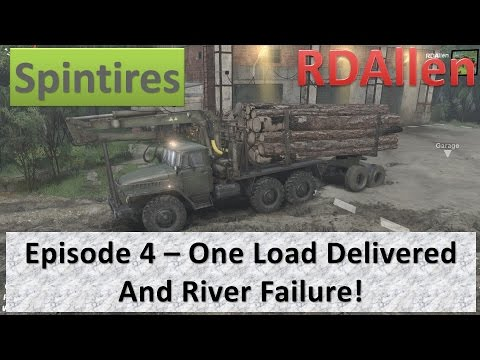Spintires - Coast Map E4 - One Load Delivered and a River Failure!