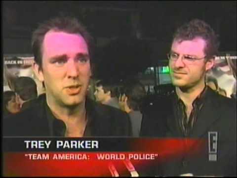 Trey Parker And Matt Stone At Team America: World Police Premiere