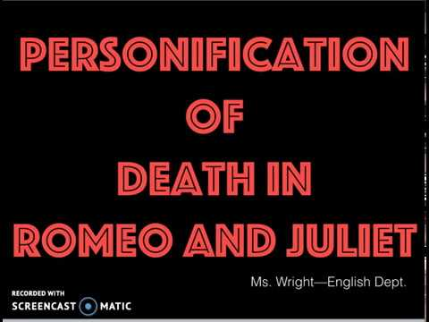 personification in romeo and juliet