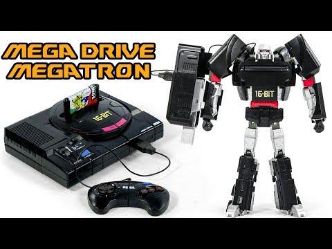 Transformers MEGA DRIVE Megatron SEGA Genesis 16-bit Classic Game Room Robot Toy thumbnail