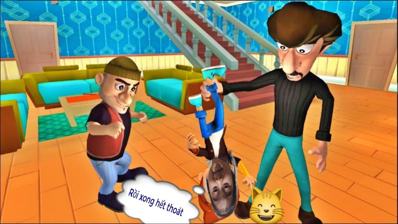Game vui |  Scary robber|  | Bẩy dĩa phim kinh dị | Phá xe hơi | Tặng quà là con chuột | Part 1