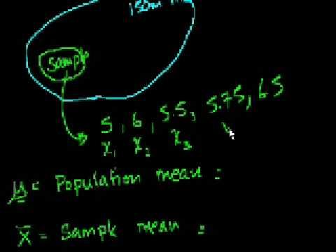Statistics: Sample vs. Population Mean