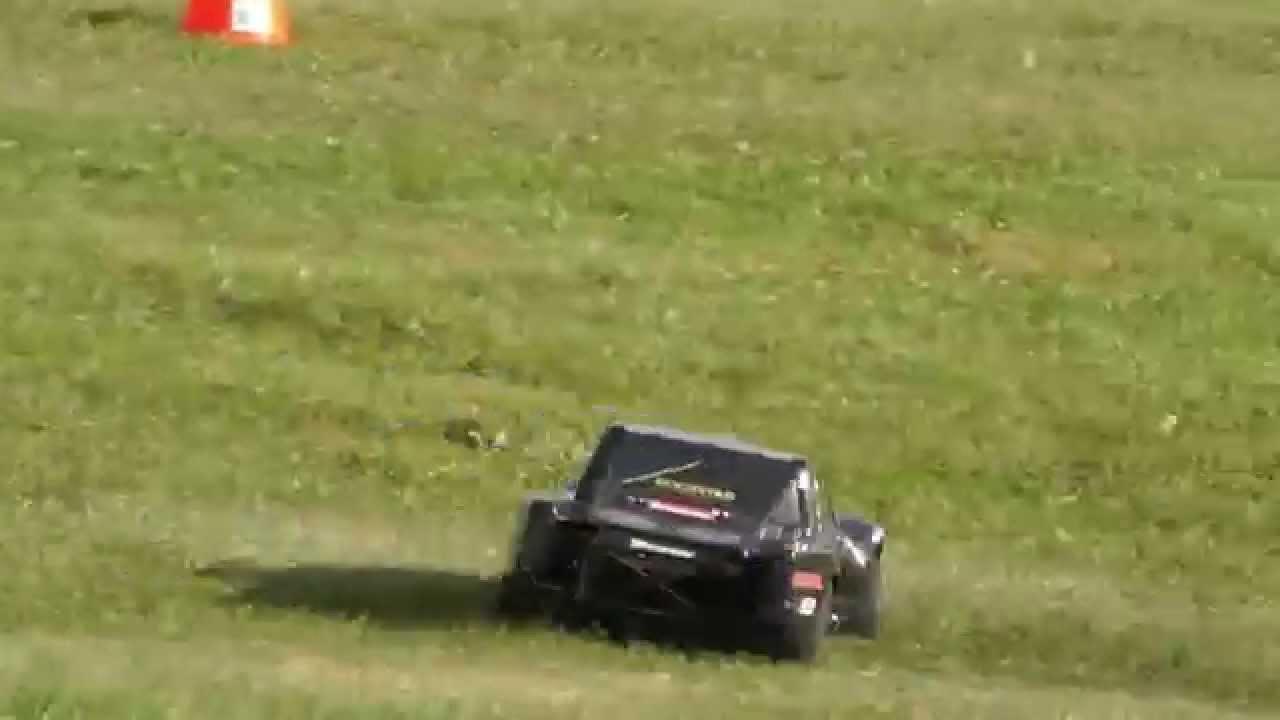back yard rc track using traffic cones youtube