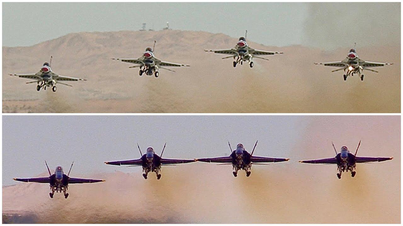 Blue Angels-Thunderbirds flyover: Start time, flight path over ...