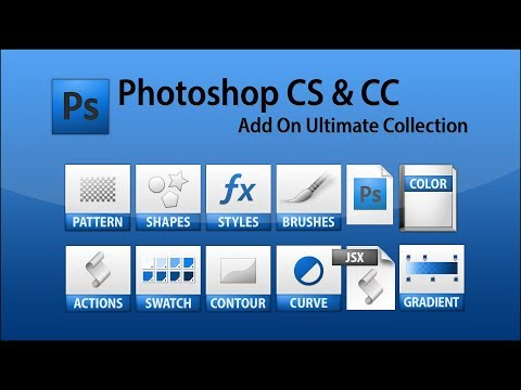 PhotoShop CS6 & CS5 All In One,Brashes,Styles,Switches,Custom Shapes,Contours And Many More