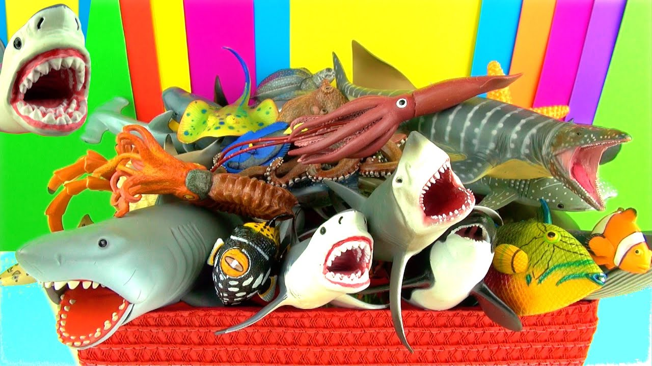 Shark Toys Collection Whales Fish Turtles Toys for Kids Tibur³n