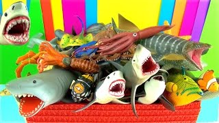 shark toys collection whales fish turtles toys for kids tiburn tubaro jaws