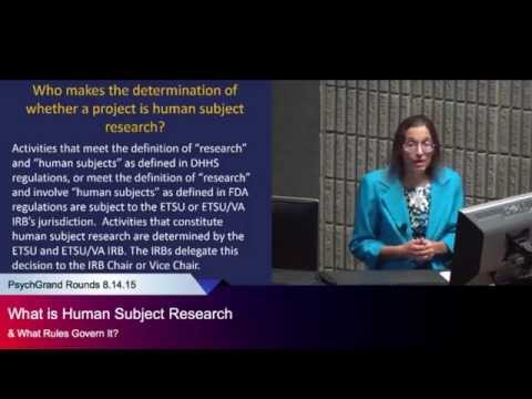 """""""What is Human Subject Research & What Rules Govern It?"""""""