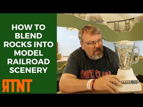 How to Blend Rock Castings into Model Railroad Scenery