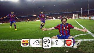 ملخص مباراة برشلونة و ارسنال 4 - 1 ◄تشامبيونز ليج 2010 بتعليق  الشوالي