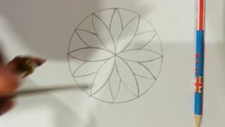 How to make a flower type thing with a compass | art