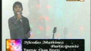 NICOLAS MARTINEZ EN CANTA X VOS 2012