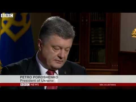 Ukraine's President Poroshenko Said : 'I don't trust Vladimir Putin'