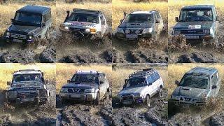 Mercedes G vs Toyota FJ Cruiser & Land Cruiser vs Nissan Patrol & Terrano
