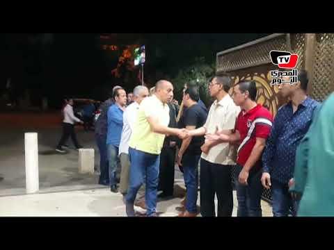 احمد صيام وماجد المصري في عزاء الفنان ماهر عصام  - 22:22-2018 / 6 / 18