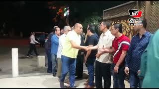 احمد صيام وماجد المصري في عزاء الفنان ماهر عصام