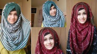 Simple Hijab Tutorial For Beginners || Noshin Nower ❤