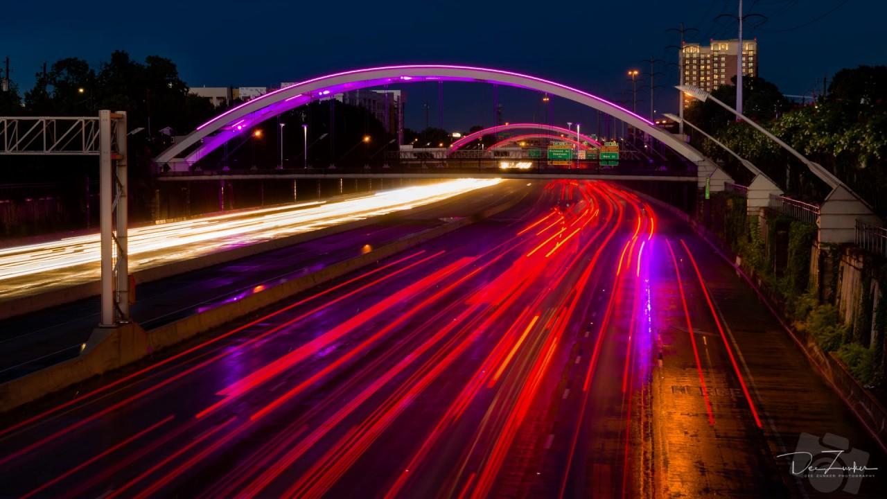 Houston Highway 59 (US 69) Bridge Lights At Twilight