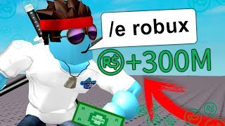 SECRET EMOTICONO in ROBLOX gives you 300M ROBUX FREE INSTANTLY!!! (ROBLOX!) [SAVING MYTHS]