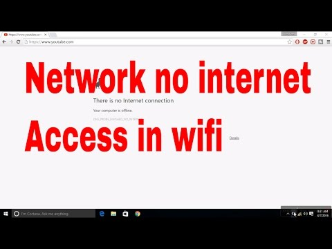 How To Fix  Unidentified Network  No Internet Access In Wi-fi Connection #wifinointernetaccess